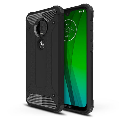 Military Defender Shockproof Case - Motorola Moto G7 / G7 Plus - Black